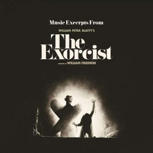The Exorcist Movie Soundtrack, Clear with Black Smoke Vinyl LP.