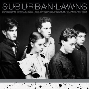 Suburban Lawns , S/T Suburban Lawns, Futurismo ,on Brand New Colour Tit ,Flavor Crystal', Frosted Clear Vinyl, Pink  Orange Splatter, CD.