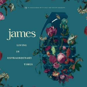 James , Living In Extraordinary Times,BMG, Double Vinyl LP, CD+Book, Std CD.